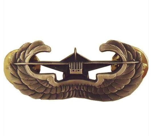 Vanguard ARMY BADGE: AIRBORNE GLIDER - SILVER OXIDIZED FINISH