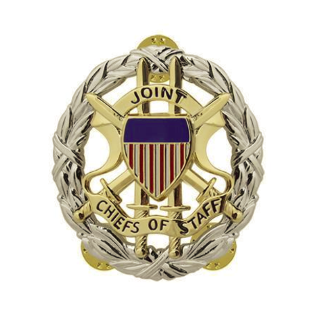 Vanguard ARMY IDENTIFICATION DRESS BADGE: JOINT CHIEF OF STAFF - MIRROR FINISH