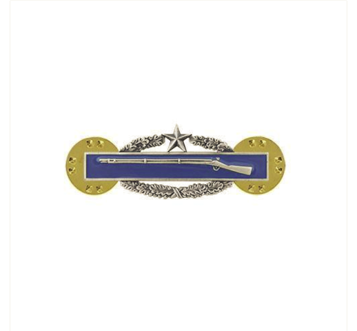 Vanguard ARMY DRESS BADGE: COMBAT INFANTRY 2ND AWARD - MINIATURE SILVER OXIDIZED