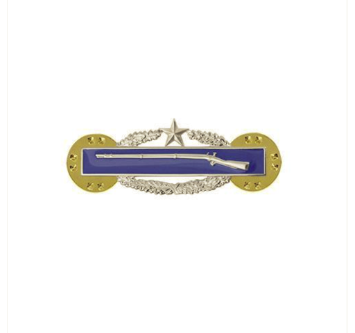 Vanguard ARMY DRESS BADGE: COMBAT INFANTRY SECOND AWARD MINIATURE, MIRROR FINISH