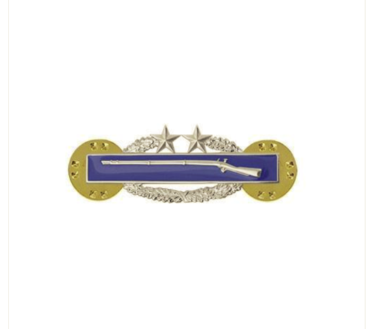 Vanguard ARMY DRESS BADGE: COMBAT INFANTRY THIRD AWARD - MINIATURE MIRROR FINISH