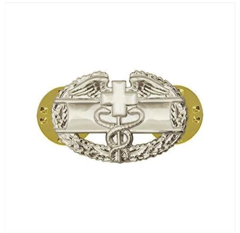 Vanguard ARMY DRESS BADGE: COMBAT MEDICAL FIRST AWARD - MINIATURE, MIRROR FINISH