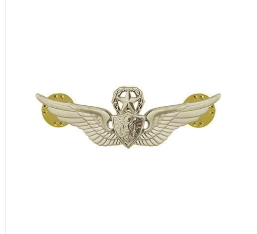 Vanguard ARMY DRESS BADGE: MASTER AIRCRAFT CREWMAN: AIRCREW - MINIATURE, MIRROR