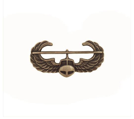 Vanguard ARMY DRESS BADGE: AIR ASSAULT - MINIATURE, SILVER OXIDIZED