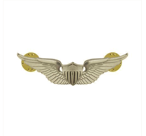 "Vanguard ARMY BADGE: AVIATOR - 2"" BLOUSE MINIATURE, MIRROR FINISH"