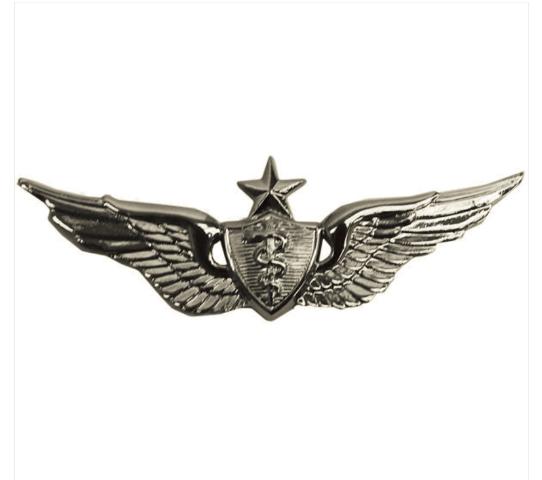 Vanguard ARMY BADGE: SENIOR FLIGHT SURGEON - MINIATURE, MIRROR FINISH
