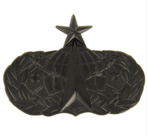 Vanguard ARMY BADGE: SENIOR SPACE MISSILE - REGULATION SIZE, BLACK METAL