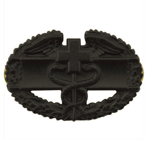 Vanguard ARMY BADGE: COMBAT MEDICAL FIRST AWARD - BLACK METAL