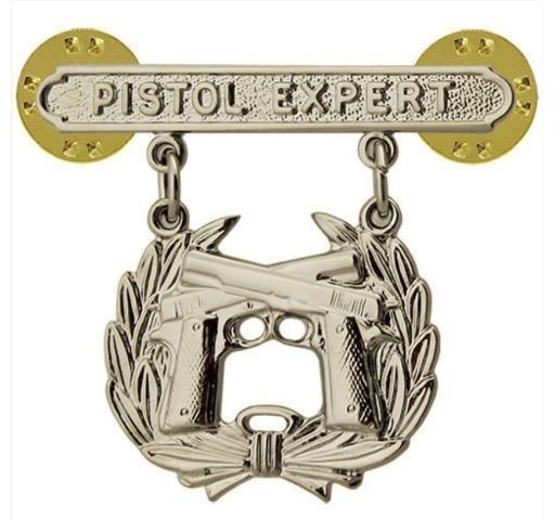 Vanguard MARINE CORPS QUALIFICATION BADGE: PISTOL EXPERT