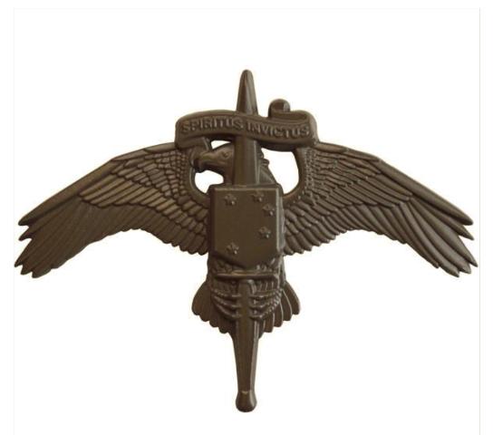 Vanguard MARINE CORP BADGE MARSOC SUBDUED METAL MARINE FORCES SPECIAL OP COMMAND