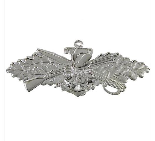 Vanguard Navy Seabee Combat Warfare Specialist Enlisted Badge- Mirror