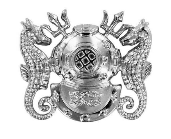 Vanguard Regulation Size Master Diver Badge Mirror Finish (Navy)