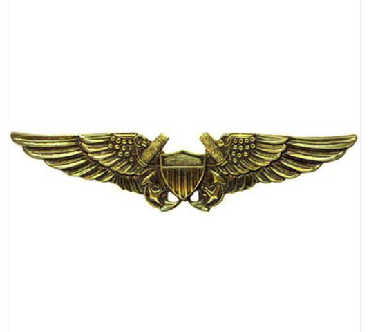 Vanguard NAVY BADGE: NAVAL FLIGHT OFFICER - REGULATION SIZE