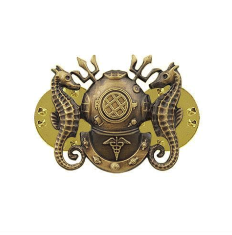 Vanguard NAVY BADGE: DIVING MEDICAL OFFICER - MINIATURE, OXIDIZED