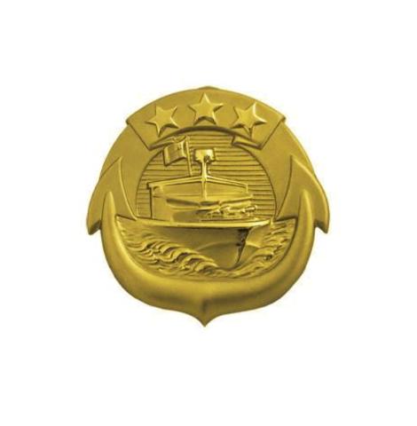 Vanguard NAVY BADGE: SMALL CRAFT OFFICER - MINIATURE, MIRROR FINISH