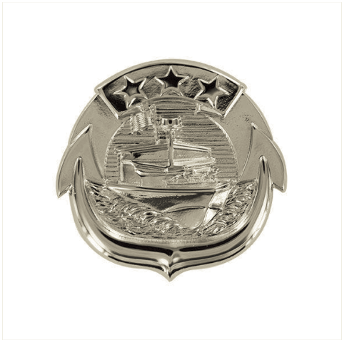 Vanguard NAVY BADGE: SMALL CRAFT ENLISTED - MINIATURE SIZE, MIRROR FINISH