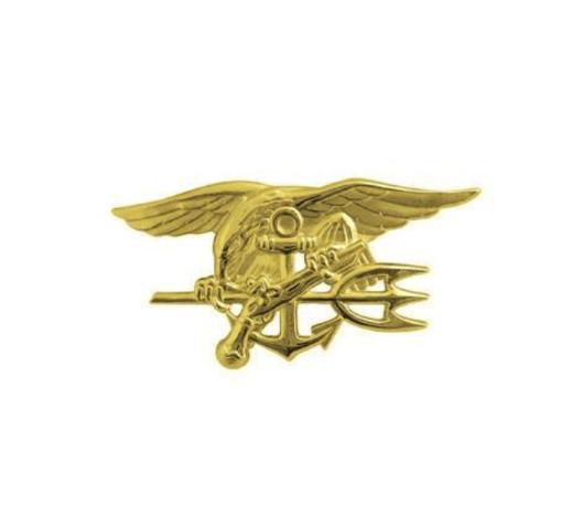 Vanguard NAVY BADGE: SPECIAL WARFARE - MINIATURE, GOLD MATTE FINISH
