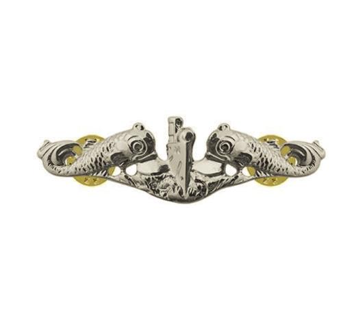 Vanguard NAVY BADGE: SUBMARINE ENLISTED - MINIATURE, MIRROR FINISH