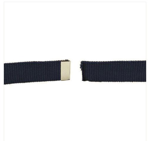 Vanguard AIR FORCE BELT: BLUE ELASTIC WITH MIRROR TIP