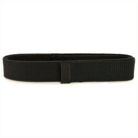 Vanguard NAVY BELT: BLACK COTTON WITH SEABEE BLACK TIP - MALE