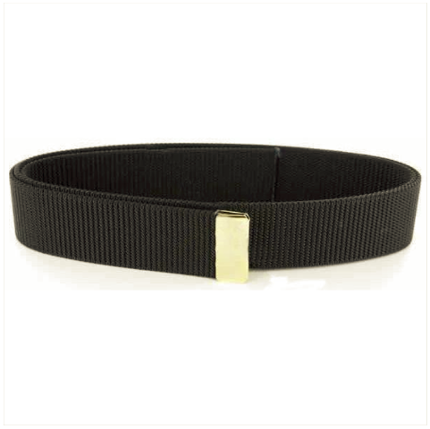 Vanguard BELT: BLACK NYLON WITH 24K GOLD TIP - MALE XL