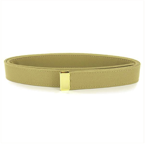 Vanguard NAVY BELT: KHAKI CNT WITH 24K GOLD TIP - FEMALE XL