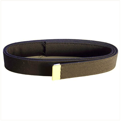Vanguard NAVY BELT: BLACK POLY-WOOL WITH 24K GOLD TIP - MALE XL