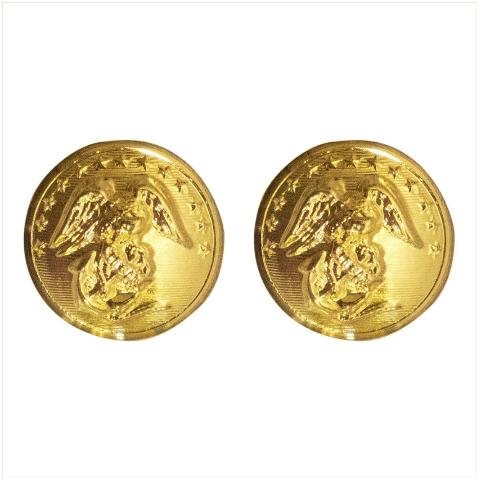 Vanguard MARINE CORPS BUTTON: 27 LIGNE - 24K GOLD PLATED