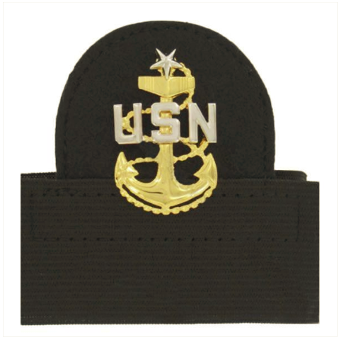 Vanguard NAVY CAP DEVICE: E8 CHIEF PETTY OFFICER: SENIOR - MOUNTED