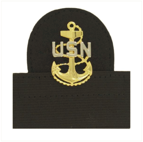 Vanguard NAVY CAP DEVICE: E7 CHIEF PETTY OFFICER - MOUNTED