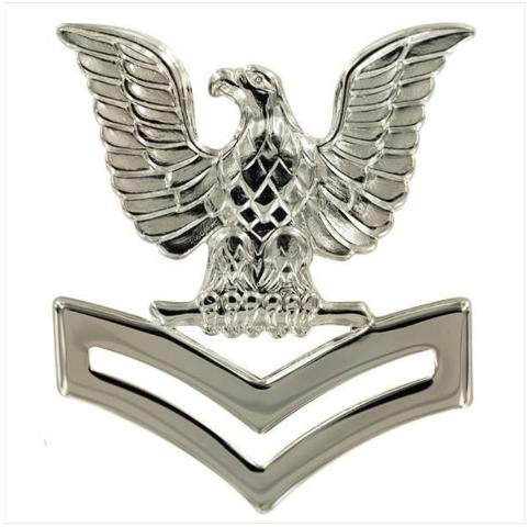 Vanguard NAVY CAP DEVICE: E5 PETTY OFFICER SECOND CLASS - SILVER