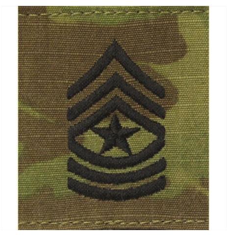 Vanguard ARMY GORTEX RANK: SERGEANT MAJOR - OCP JACKET TAB