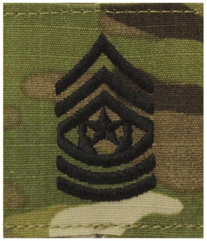 Vanguard ARMY GORTEX RANK: COMMAND SERGEANT MAJOR - OCP JACKET TAB