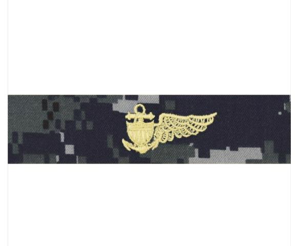 Vanguard NAVY EMBROIDERED BADGE: BALLOON PILOT - TYPE I BLUE DIGITAL