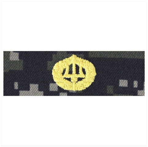 Vanguard NAVY EMBROIDERED BADGE: COMMAND ASHORE - TYPE I BLUE DIGITAL