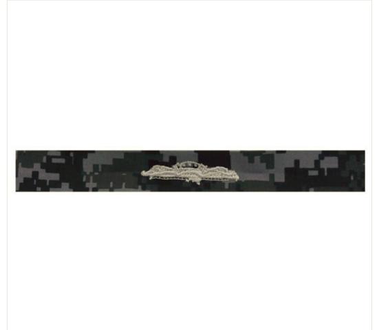Vanguard NAVY EMBROIDERED BADGE: SUBMARINE COMBAT PATROL - TYPE I BLUE DIGITAL