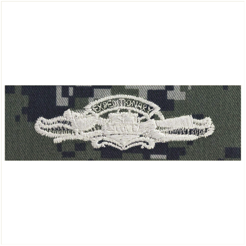 Vanguard NAVY EMBROIDERED BADGE: EXPEDITIONARY WARFARE - TYPE I BLUE DIGITAL