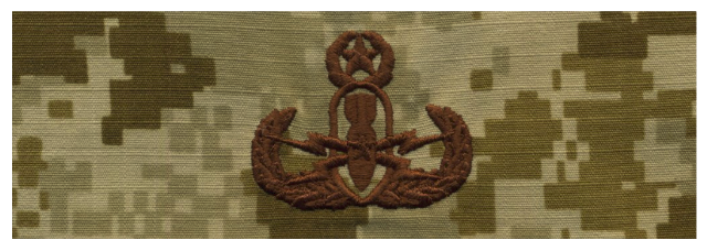 Vanguard NAVY EMBROIDERED BADGE: MASTER E.O.D. - DESERT DIGITAL