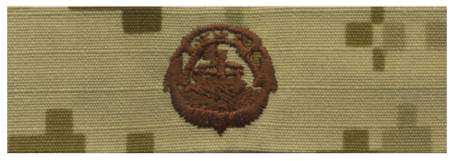 Vanguard NAVY EMBROIDERED BADGE: SMALL CRAFT - DESERT DIGITAL