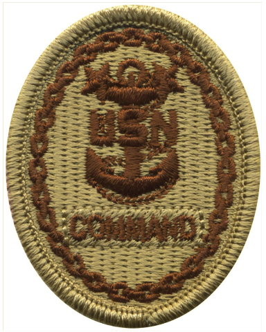 Vanguard NAVY EMBROIDERED BADGE: COMMAND E-9 - DESERT DIGITAL