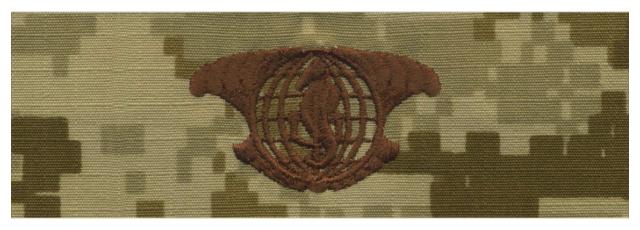 Vanguard NAVY EMBROIDERED BADGE: I.U.S.S. - DESERT DIGITAL