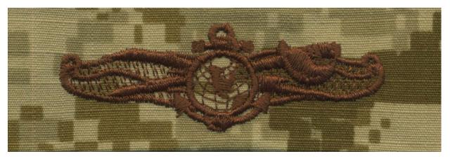 Vanguard NAVY EMBROIDERED BADGE: INFORMATION DOMINANCE WARFARE ENLISTED - DESERT DIGITAL