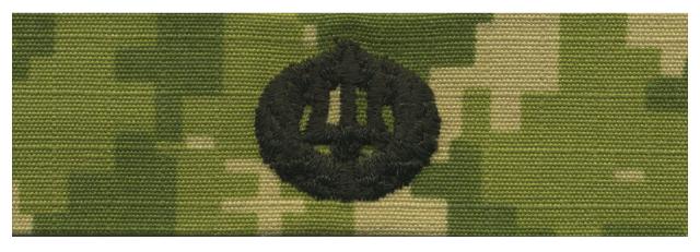 Vanguard NAVY EMBROIDERED BADGE: COMMAND ASHORE - WOODLAND DIGITAL