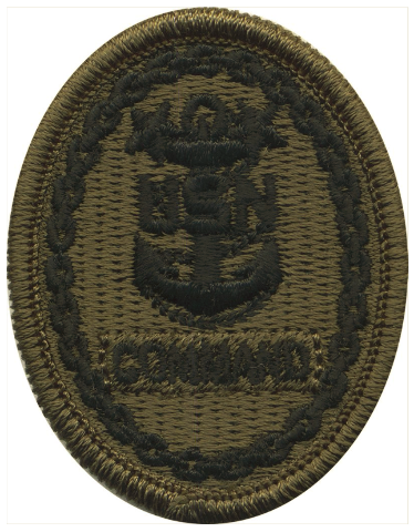 Vanguard NAVY EMBROIDERED BADGE: COMMAND E-9 - WOODLAND DIGITAL