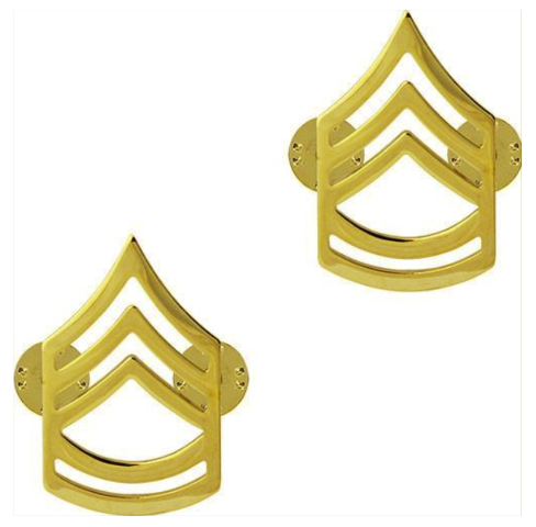 Vanguard ARMY CHEVRON: SERGEANT FIRST CLASS - 22K GOLD PLATED