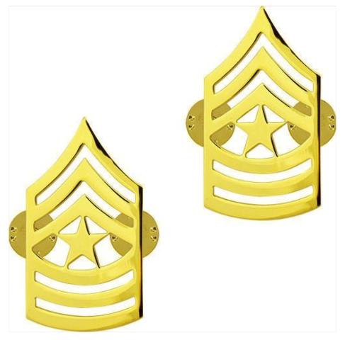 Vanguard ARMY CHEVRON: SERGEANT MAJOR - 22K GOLD PLATED
