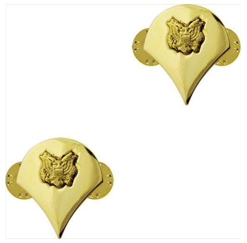 Vanguard ARMY CHEVRON: SPECIALIST 4 - 22K GOLD PLATED