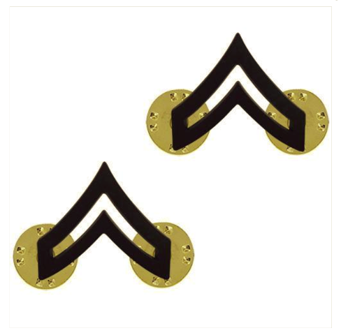 Vanguard ARMY CHEVRON: CORPORAL: CPL - BLACK METAL