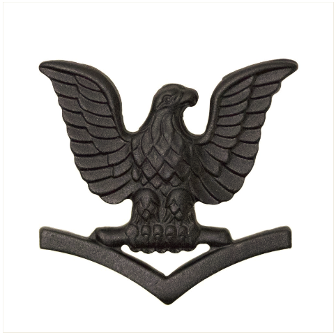 Vanguard MARINE CORPS COLLAR DEVICE: E4 PETTY OFFICER - BLACK METAL