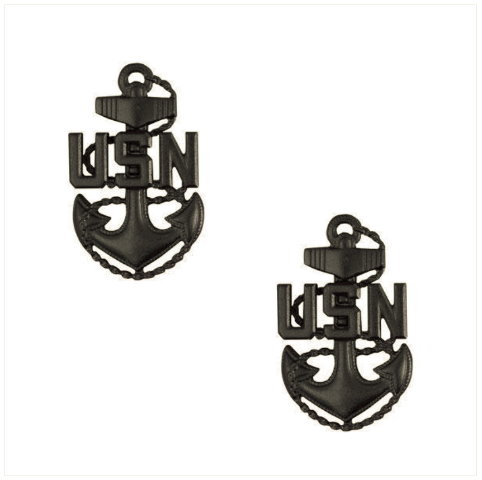 Vanguard NAVY COLLAR DEVICE: E-7 CORPSMAN OR SEABEE - SMALL